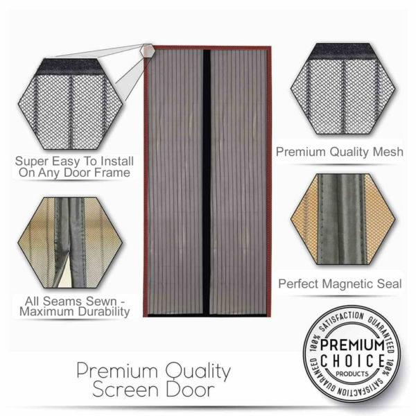 best magnetic flyscreen door curtain 1